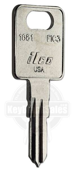 Ilco FIC3 1681 Key Blanks  Wholesale FIC, Fastec and Global